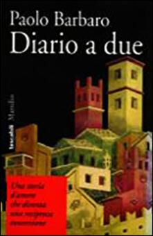 Diario a due - Paolo Barbaro - copertina