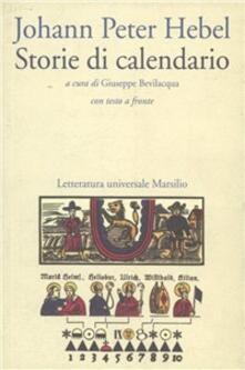 Storie di calendario - Johann Peter Hebel - copertina