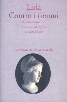 Contro i tiranni (Contro Eratostene) - Lisia - copertina