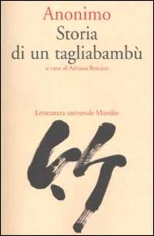 Storia di un tagliabambù - Anonimo - copertina