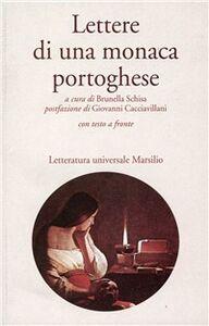 Foto Cover di Lettere di una monaca portoghese, Libro di Anonimo, edito da Marsilio