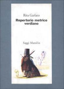 Libro Repertorio metrico verdiano Rita Garlato