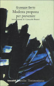 Modesta proposta per prevenire - Giuseppe Berto - copertina