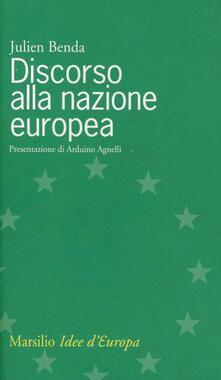 Discorso alla nazione europea - Julien Benda - copertina