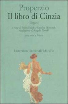 Il libro di Cinzia. Elegie. Testo latino a fronte. Vol. 1.pdf
