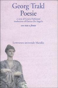 Foto Cover di Poesie, Libro di Georg Trakl, edito da Marsilio