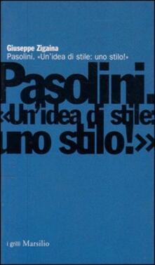 Antondemarirreguera.es Pasolini. Un'idea di stile: uno stilo! Image