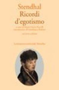 Libro Ricordi d'egotismo Stendhal