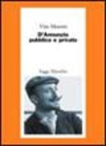 Libro D'Annunzio pubblico e privato Vito Moretti