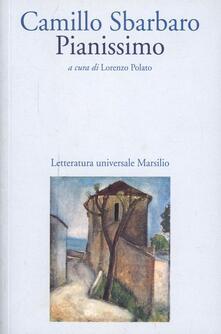 Pianissimo - Camillo Sbarbaro - copertina
