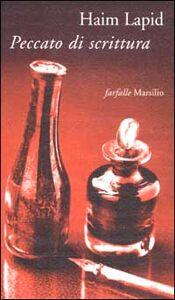 Foto Cover di Peccato di scrittura, Libro di Haim Lapid, edito da Marsilio