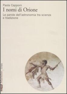 Tegliowinterrun.it I nomi di Orione. Le parole dell'astronomia tra scienza e tradizione Image