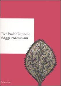 Libro Saggi rosminiani Pier Paolo Ottonello