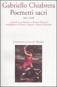 Libro Poemetti sacri (1627-1628) Gabriello Chiabrera