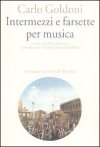 Libro Intermezzi e farsette per musica Carlo Goldoni