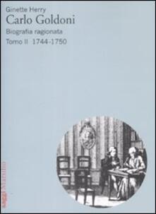 Camfeed.it Carlo Goldoni. Biografia ragionata. Vol. 2: 1744-1750. Image