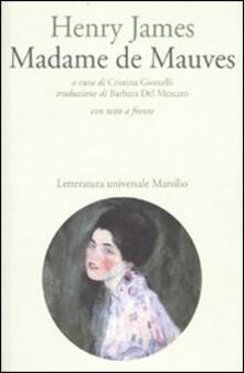 Madame de Mauves. Testo inglese a fronte - Henry James - copertina