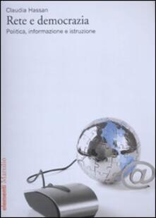 Rete e democrazia. Politica, informazione e istruzione.pdf