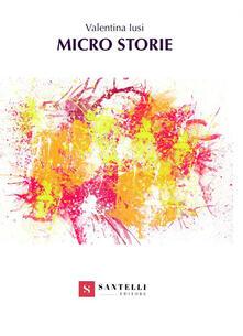 Micro storie - Valentina Iusi - copertina