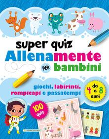 Voluntariadobaleares2014.es Superquiz. Allenamente per bambini. Ediz. illustrata Image