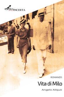 Vita di Milo - Angelo Aliquò - copertina