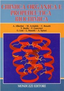 Chimica organica e propedeutica biochimica - copertina