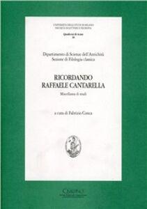 Libro Ricordando Raffaele Cantarella