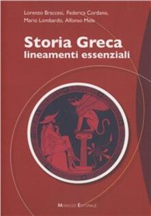 Storia greca. Lineamenti essenziali - copertina
