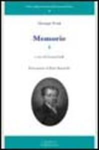 Libro Giuseppe Frank. Memorie. Vol. 1
