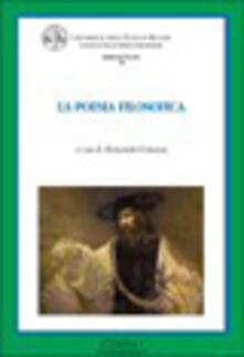 La poesia filosofica - copertina