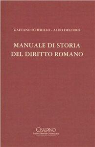Libro Manuale di storia del diritto romano