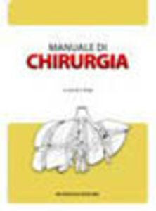 Foto Cover di Manuale di chirurgia. Con CD-ROM, Libro di  edito da Monduzzi