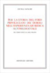 Libro Per la storia del foro privilegiato dei deboli nell'esperienza giuridica altomedievale. Dal tardo antico a Carlo Magno Cecilia Natalini
