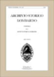 Antondemarirreguera.es Archivio storico lombardo. Giornale della Società storica lombarda (2008). Vol. 134 Image