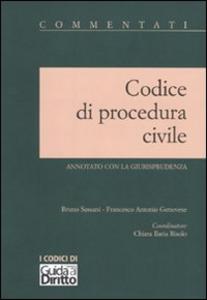 Libro Codice di procedura civile. Annotato con la giurisprudenza Bruno Sassani , Francesco A. Genovese