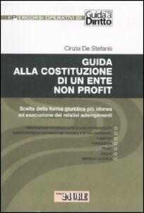 Libro Guida alla costituzione di un ente non profit. Scelta della forma giuridica più idonea ed esecuzione dei relativi adempimenti Cinzia De Stefanis