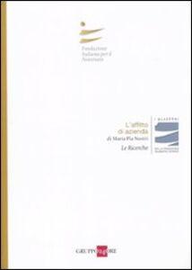 Libro L' affitto di azienda M. Pia Nastri