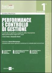 Performance e controllo di gestione. Il controllo di gestione a supporto della misurazione della performance negli enti locali