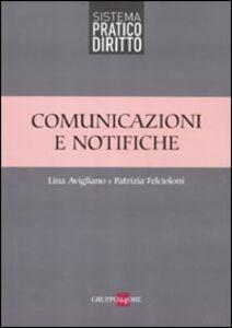 Libro Comunicazioni e notifiche Lina Avigliano , Patrizia Felcioloni