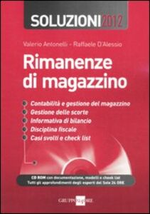 Libro Rimanenze di magazzino. Soluzioni 2012. Con CD-ROM
