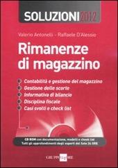 Rimanenze di magazzino. Soluzioni 2012. Con CD-ROM