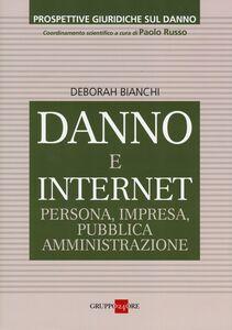 Foto Cover di Danno e internet. Persona, impresa, pubblica ammnistrazione, Libro di Deborah Bianchi, edito da Il Sole 24 Ore