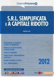 Libro Srl semplificata e a capitale ridotto Michele Iori