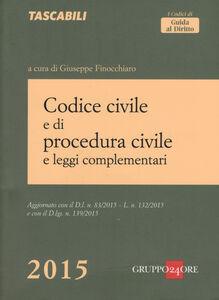 Foto Cover di Codice civile e di procedura civile e leggi complementari, Libro di  edito da Il Sole 24 Ore