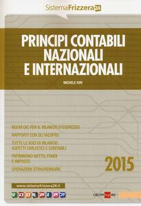 Foto Cover di Principi contabili nazionali e internazionali, Libro di Michele Iori, edito da Il Sole 24 Ore