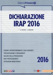 Dichiarazione Irap 2016