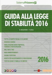 Guida alla legge di stabilità 2016