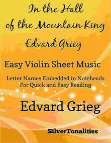 In the Hall of the Mountain King Easy Violin Sheet Music