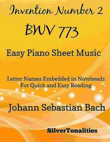 Invention Number 2 BWV Easy Piano Sheet Music
