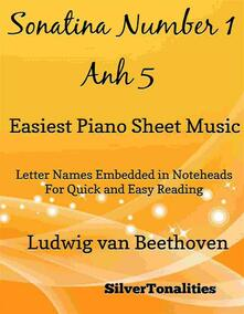 Sonatina Number 1 First Movement Anh 5 Easiest Piano Sheet Music